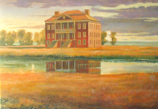 "Drayton Hall, 36"" x 48"", oil on canvas"