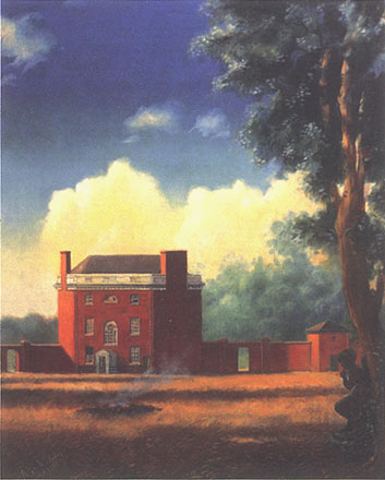 End of the Golden Weather: Rear View of the Octagon, 1855 oil on canvas