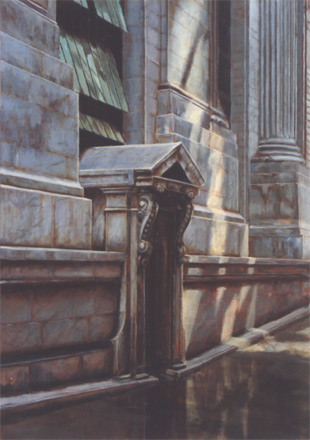 "Grand Central Station, 48"" x 36"", oil on canvas"