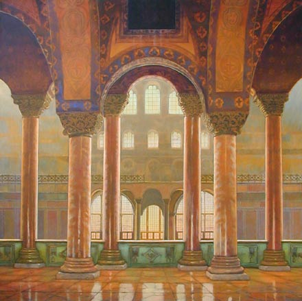 "Hagia Sofia, 60"" x 60"", oil on canvas"