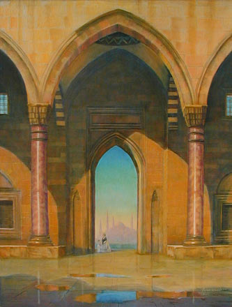"Suluyman Mosque, 48"" x 36"", oil on canvas"